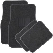Car Floor Mat for Auto 4pc Carpet Semi Custom Fit Heavy Duty w/Heel Pad Charcoal