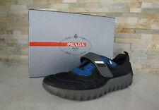 PRADA  43  9 Sneakers Schnürschuhe Schuhe 4E3101 schwarz blau NEU ehem UVP 495 €