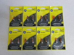 Nos GE Miniature Automotive Side Marker Light Bulb (194NA) 8 Pair