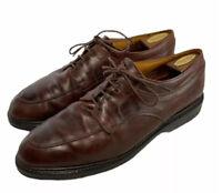 Allen Edmonds Men's Brown Leather Split Toe Oxford Vibram Gumlite Sole Sz 14 D