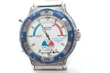 Vintage Seiko 8M35-8000 Yacht Timer Sports 150 Blue Bracelet Needs Repair