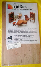 NIP GREENLEAF CARONA CONCEPTS Wood WOODEN Miniature LIBRARY FURNITURE KIT Sealed