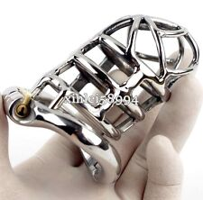 Male Chastity Devices Stainless Steel Bird Cage New Ring Design Chastity Lock