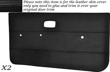 BLACK STITCH 2X DOOR CARDS LEATHER COVERS FITS VW GOLF MK1 JETTA CADDY 5 DOOR
