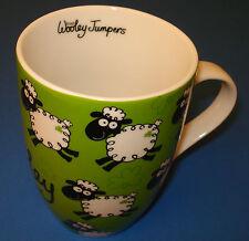 Irish Wooley Jumpers Tulip Mug Green/Black/White Name Printed Also Inside