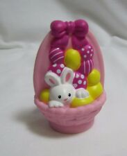 NEW! Fisher Price Little People PINK EASTER EGG BASKET White Bunny Rabbit EGGS