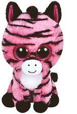 Ty Beanie Boos Glubschi Zebra Pink Zoey Stuffed 9 3/8in