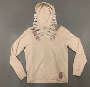 Denim Supply Ralph Lauren Aztec Hoodie Men Medium Beige Long Sleeve