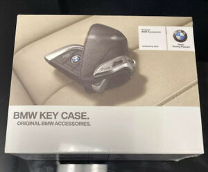 NEW SEALED BMW Genuine Black Leather Key Case with BMW Lettering 82292344033