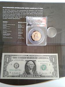 1st Responders 911 -2015 W Native Am 1$ EU 70 FS #257 of #1483 Coin & Curr Set