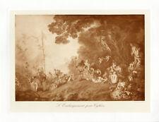 """""""WATTEAU: Embarquement pour Cythère"""" Phototypie originale BRAUN CLEMENT Cie 1890"""