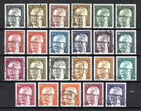 Berlin 1970/73 Mi.Nr. 359-370, 393-396, 427-433 Freim: Heinemann gestempelt o
