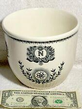 Royal Boch Antique Napoleon Wars Transferware Flower/Plant Pot 1920 Belgium M16!