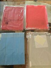 Genuine Original Apple Smart Cover Magnetic Case For iPad 2, 3, 4 Sky Blue Red.