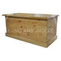HANDMADE DEWSBURY SOLID PINE OTTOMAN STOAGE BOX KENILWORTH POLISHED (ASSEMBLED)