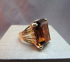 ESPO 18k HGE Ring Topaz Crystal Ring Emerald Cut JOSEPH ESPOSITO Size 7 Vintage