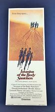 Original 1978 INVASION OF THE BODY SNATCHERS Insert Movie Poster 14 x 36 STYLE B