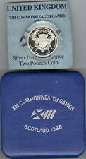 More details for boxed 1986 standard silver proof £2 the xiii commonwealth games scotland