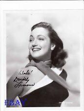 Dorothy Lamour autograph RARE Photo