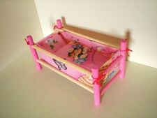 NEW SMALL WOODEN COT,BED,CRIB DOLLS TOY