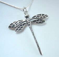 Dragonfly Veined Double Wing Pendant 925 Sterling Silver Corona Sun Jewelry
