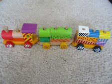 Holz Eisenbahn Spielzeug bunte Bausteine