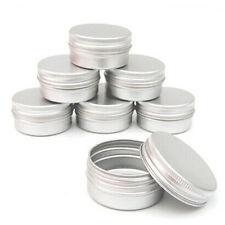 10 X15ml Aluminum Cosmetic Jar Cream Empty Bottle Cream Containers Jars Pill Box