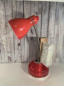 New LimeLights PINK Flossy Organizer Desk Lamp  Charging Outlet Lazy Susan Base