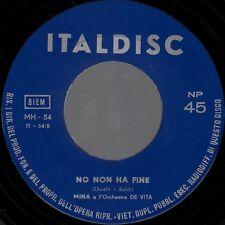 """MINA-BRICIOLE DI BACI/NO NON HA FINE-ORIGINAL ITALIAN 7"""" 45rpm 1960-ITALDISC"""