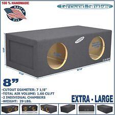 """8"""" DUAL SEALED EXTRA LARGE SPEAKER SUB BOX SUBWOOFER ENCLOSURE GROUND-SHAKER"""