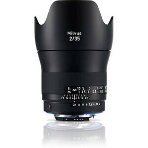 New Carl Zeiss Milvus Distagon T* 35mm F2 ZF.2 Wide Angle Lens Nikon F Mount NIB