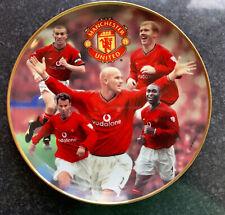 More details for danbury mint rimmed porcelain plate 22 carat gold premiership kings man utd
