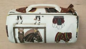 Wathne - Cosmetic Bag - Equestrian Themed - Never Used - One of a kind