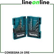 Makita Serie 21 Punte miste per ferro cemento legno in Custodia B-44884