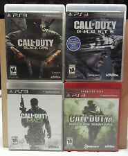 4 PS3 Call Of Duty Games: Black Ops, MW3, Ghosts, & Modern Warfare All Excellent