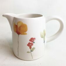 VINTAGE MADE ENGLAND FLOWER MILK WATER CREAM JUG POTTERY