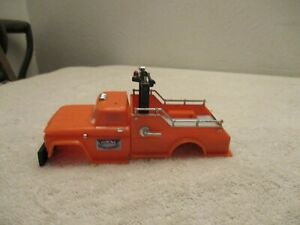 Vintage 1966 Ideal Motorific Slot Car Orange Tow Truck Body only for parts