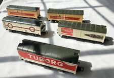 HO-Scale European Freight Cars - 5-Car Lot - Tuborg, Coke, Schwepps - Used
