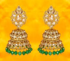 Indian Earrings Bollywood Women Gold Plated Ethnic Wedding Fashion Jewelry Set