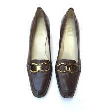 Circa Joan & David Brown Leather Loafers Shoes Size 6.5 M
