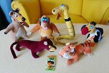 RARE 1967 The Jungle Book 6x stuffed toys plush made in Japan Gund Walt Disney