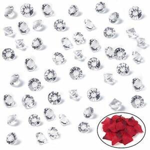 Clear Glass Diamonds 500PCS Crystal Gems Pirate Treasure 10Mm Fake Diamond   cme