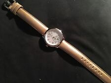 Tourneau  Safari Womens Watch Swiss Made Leather Strap Tan And Extra Pearl Strap