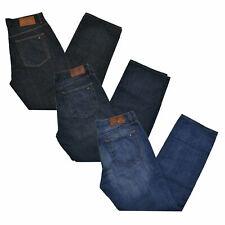 Tommy Hilfiger Masculino Jeans Relaxed Fit Calças Jeans Zíper Fly Patch Logotipo Novo Novo com etiqueta