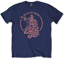 Elton John 'Rocketman Circle Point' (Navy Blue) T-Shirt - NEW & OFFICIAL!
