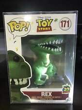 Funko Pop Disney:Toy Story Rex #171 Rare 20th Anniversary With Protector