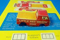 HO Slot Car AURORA AFX Tjet 500 Paper Body Dodge Maverick Little Red Wagon Truck