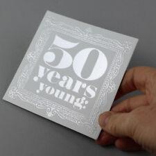 50 anni giovani SWATCH in Pelle Per Card Making e finisce di ricamare sullo