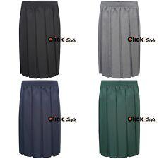 Girls Box School Skirt Full Pleated Full Elasticated Waist 4 Colours All Sizes
