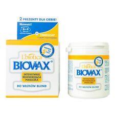 BIOVAX maseczka intensywnie regenerująca do włosów blond HAIR MASK + termocap